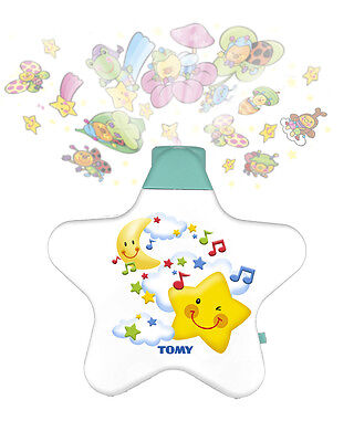 Tomy Y7585 STARLIGHT DREAMSHOW Cot Musical Lullaby Soother Projector Light WHITE