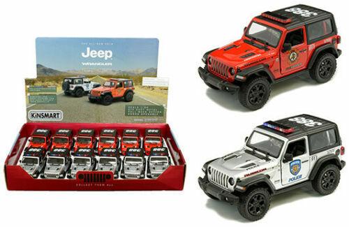 più sconto 12PC scatola  5  Kinsmart 2018 Jeep Jeep Jeep Wrangler Rubicon polizia Fire Diecast SUV 1 34  fabbrica diretta
