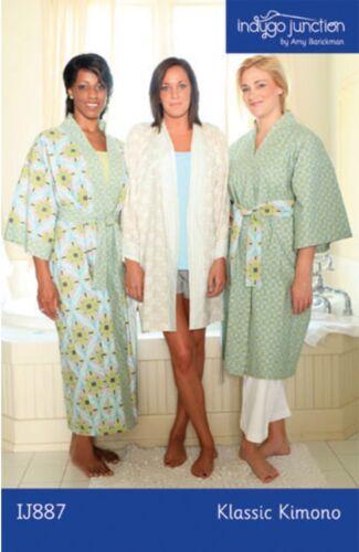 Kimono style robe Klassic Kimono Pattern to Make Indygo Junction Sizes XS-2XL