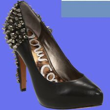 NIB Sam Edelman Roza black leather spike heel pumps women shoes size 6