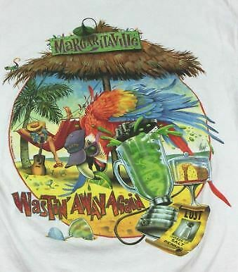 Vintage Jimmy Buffett 1996 Margaritaville T Shirt Print On Front Tee S-4XL KB090