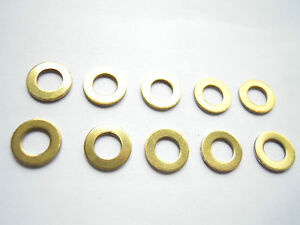 50 Unterlegscheiben DIN 125 Messing M5 M 5,3 mm