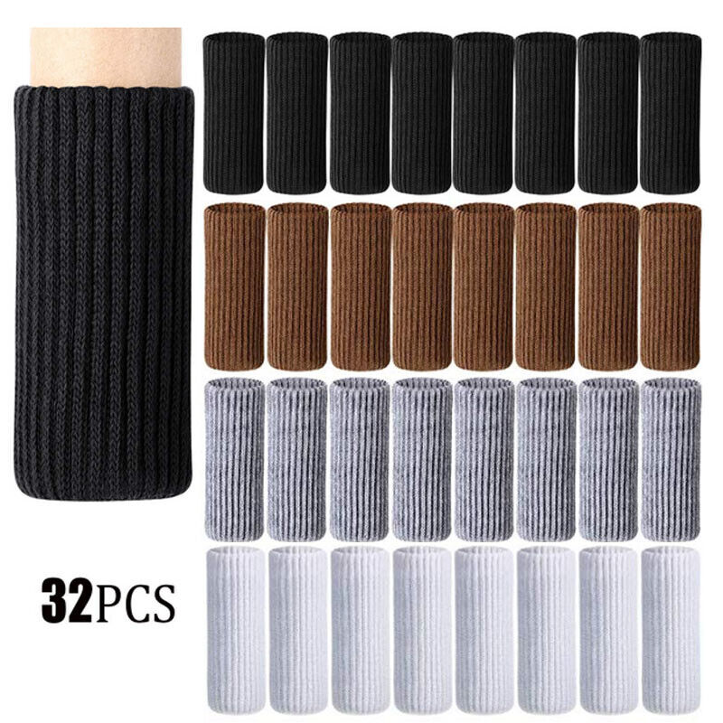 32pcs Knitted Chair Leg Socks Furniture