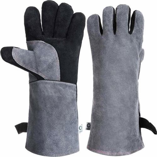 Grillhandschuhe Feuerfest Hitzeschutz Kamin Ofen Handschuhe Arbeitshandschuhe