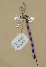 Angel Heart Arrow I'm Stuck on You Beads Bag Charm Key Chain