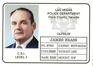 Two b6 Series Gold 2004 Id Badge James Csi Brass Foil About Details