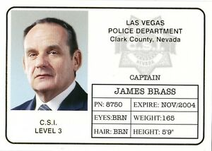 Badge Gold b6 James Series Id Foil Two 2004 Csi Details Brass About