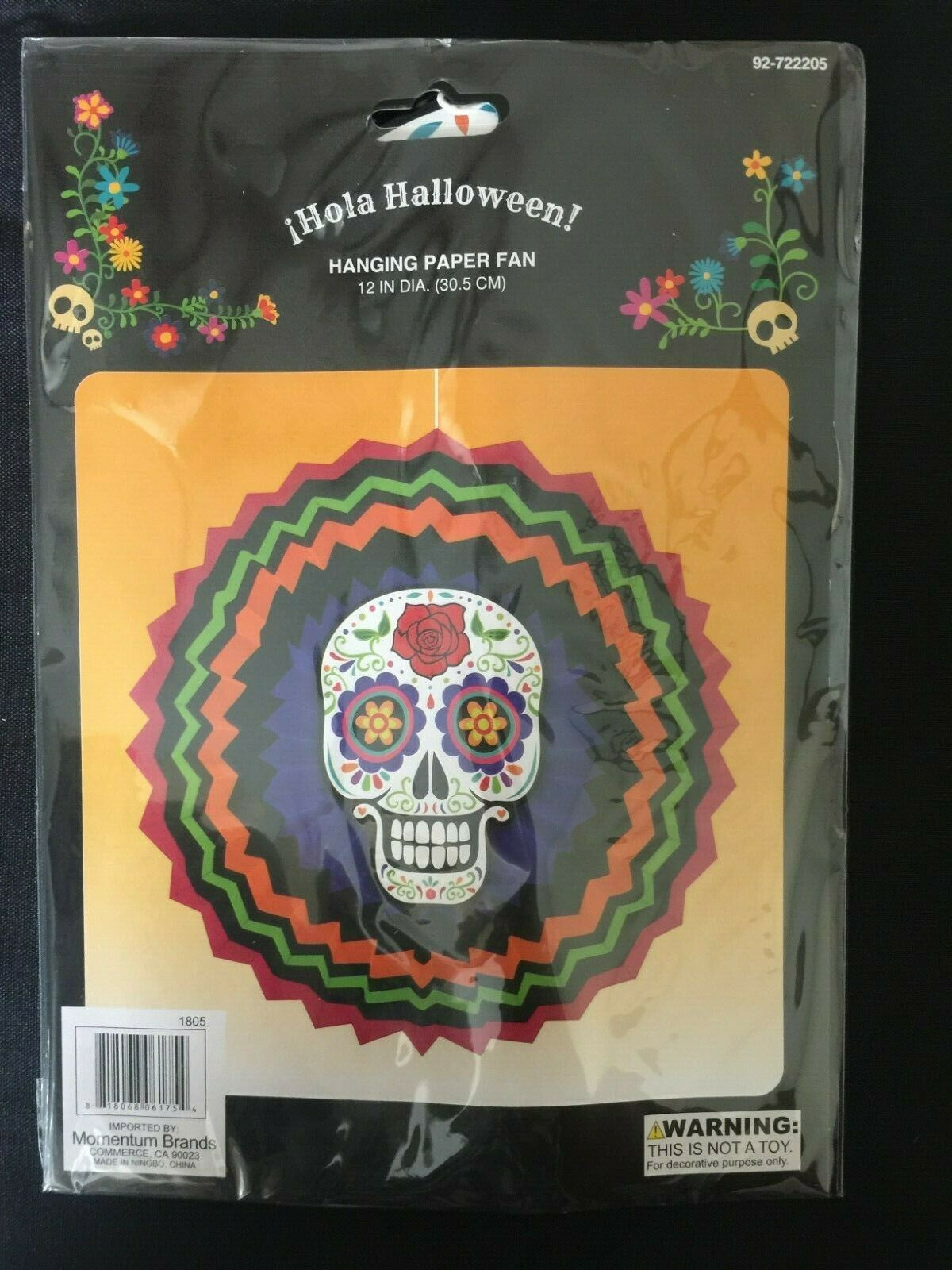 Sugar Skull 15x10 FT Vinyl Backdrop PhotographersDay of The Dead Colorful Skull with Floral Ornament Hand Drawn Style Doodle Background for Party Home Decor Outdoorsy Theme Shoot Props