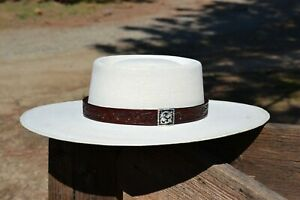 1-034-Western-Floral-Carved-Leather-Hat-Band-Square-Tip-Buckle-Cordovan-Brown