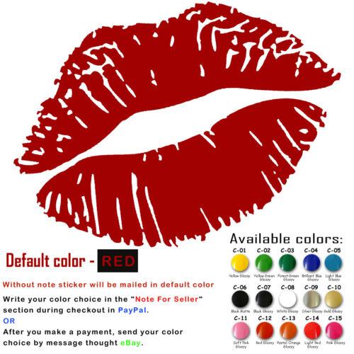 Lips Mark Vinyl Decal Sticker Door Car Window Cups Laptop Iphone USA Seller