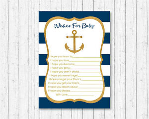 graphic relating to Anchor Printable titled Facts concerning Nautical Gold Anchor Printable Little one Shower Needs for Kid Assistance Playing cards