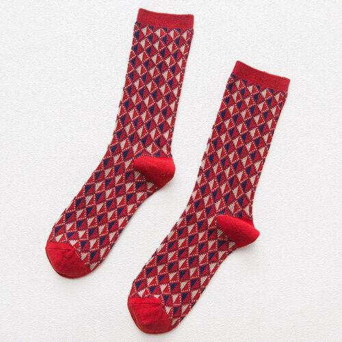 3 Pairs Mens Argyle Cotton Socks Lot Warm Colorful Diamond Casual Dress Socks