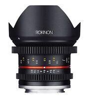 Rokinon 12mm T2.2 Cine Ultra Wide Angle Video Lens For Fuji X