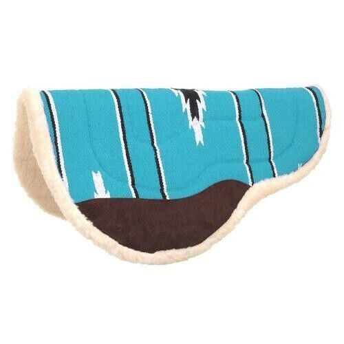 Tough-1 Deep Skirt Barrel Saddle Pad with Wear Leathers and Fleece Lining
