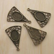 4pcs antiqued bronze color skull head round cabochon setting in 25mm EF2989