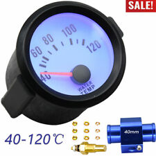 Blue Led Motorcycle Thermometer Water Temp Gauge Meter With 40mm Sensor Adapter