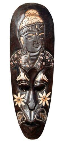 NEU Schöne 50 cm B-WARE Maske Buddha Holz Bali Maske47.50