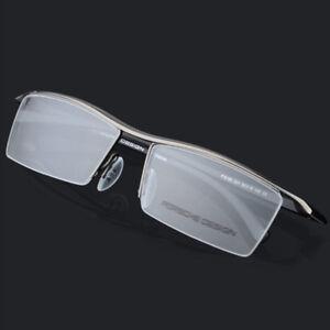 a876057ce8 LE Tr90 Titanium Myopia Glasses Frame Men Reading Half Eyeglass Rx ...