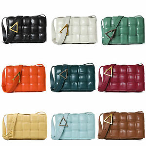 Quilted-Real-Leather-Padded-Woven-Shoulder-Bag-Crossbody-Bag-Flap-Purse-Envelope