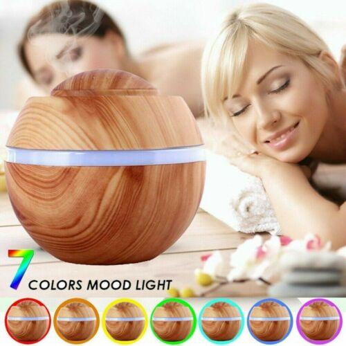 500ML Ultraschall Luftbefeuchter Aroma Diffuser 7 Farben LED-Licht Humidifier G