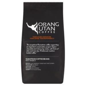 Indonesia Sumatra Orangutan Coffee Conservation Project Single Estate Coffee Bag