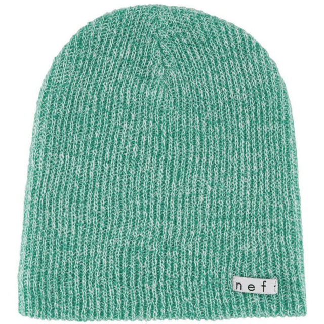 f6d15ee49fa Neff Daily Heather Beanie Salt N Pepper Winter Hat Knitted Cap Teal ...