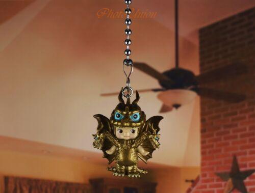 Sonny Angel Kewpie GODZILLA KING GHIDORAH Ceiling Fan Pull Light Lamp Chain 14G1