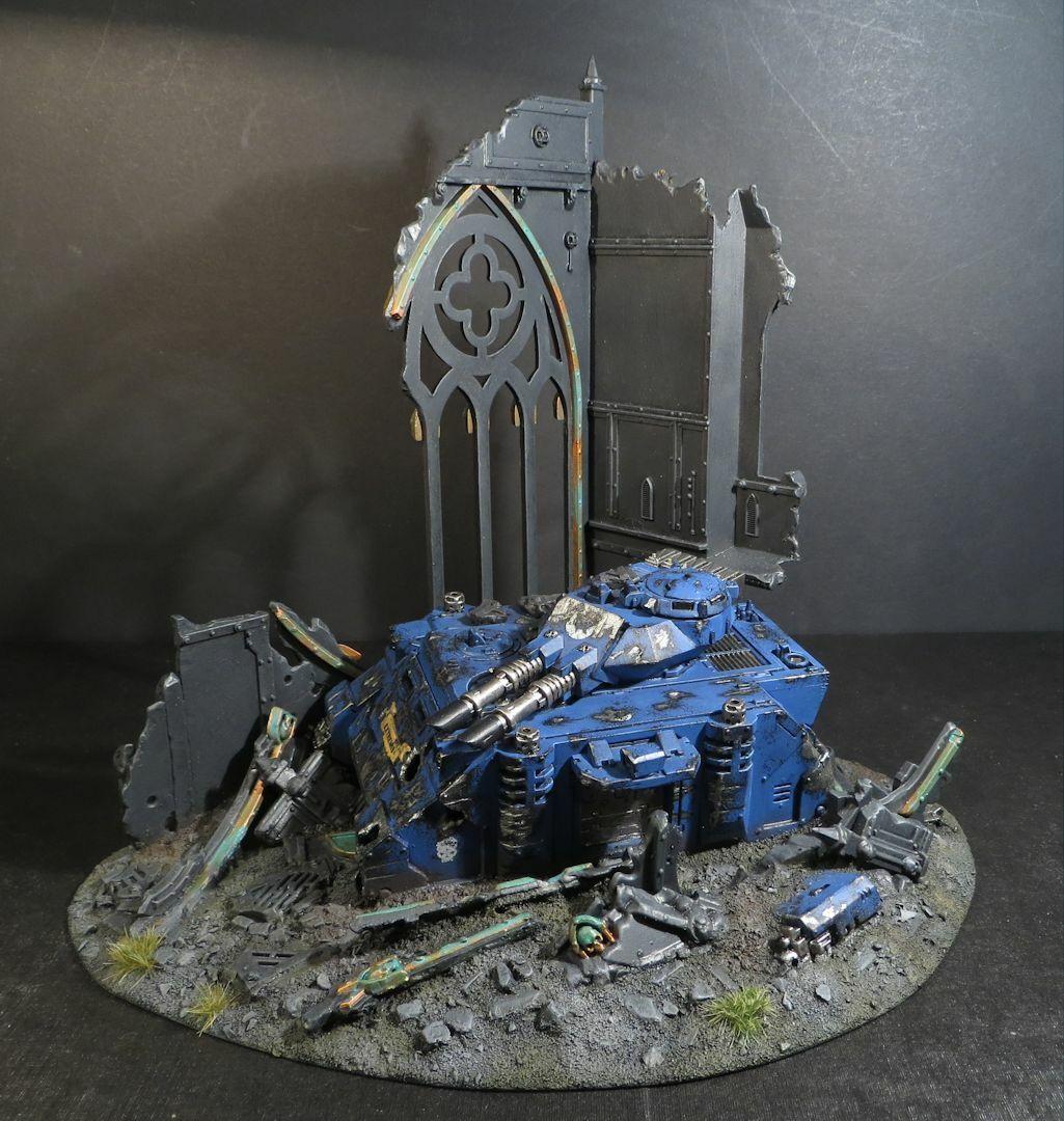 Warhammer 40,000 Space Marines Ultramarines Prougeator Aquila Sanctuaire Ruines Terrain