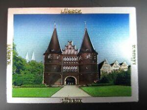Luebeck-Holstentor-Premium-Souvenir-Magnet-Germany-Deutschland-Laser-Optik