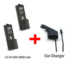 2 x BAOFENG UV-5R UV-5R-L BF-F8 BF-F8+ BF-F9 3800mAh 7.4V +1 pcs car Charger