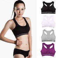 Seamless Yoga Sports Bra Crop Top Vest Comfort Stretch Bras Shapewear Workout FT