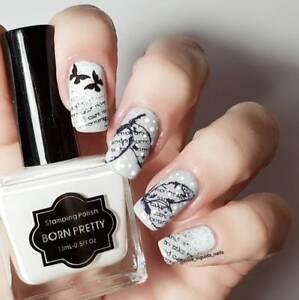 15ml-BORN-PRETTY-White-Nail-Art-Stamping-Polish-Nail-Stamp-Template-Varnish