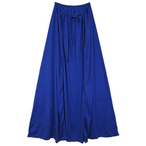 "COSPLAY COSTUME MAGICIAN KING 39/"" Blue Cape ~ HALLOWEEN SUPERHERO WIZARD"
