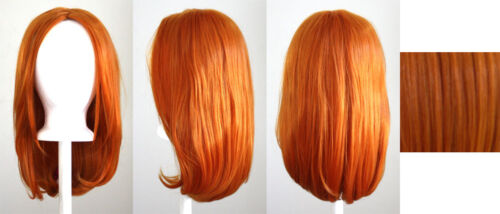 17/'/' Long Straight No Bangs Copper Brown Cosplay Wig NEW