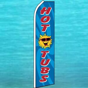 WATER Store Sale Swooper Flag Tall Curved Top Feather Bow Flutter Banner Sign