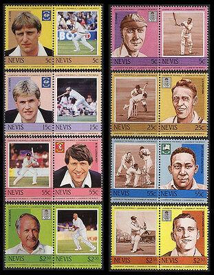 5409 Sinnvoll Nevis 186-193 ** 220-227 ** Cricket Zusammendrucke Erhaltung Siehe Foto,