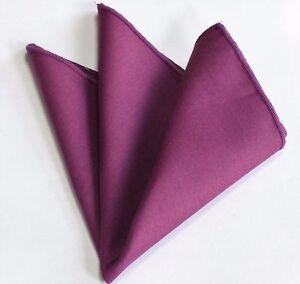 Hankie Pocket Square Cotton Handkerchief Solid Grey CH256
