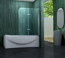 120 x 140 Badewannen Faltwand 2 tlg. Duschwand Duschabtrennung Aufsatz Duschwand