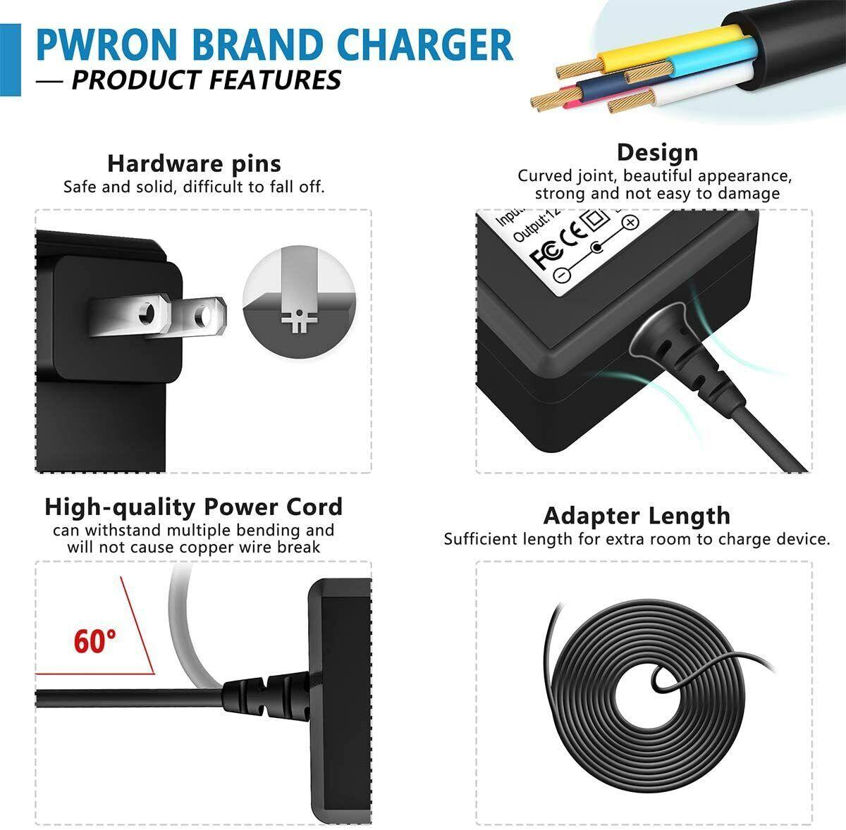 PwrON AC Adapter Charger For MTD Troy Bilt Yard Man 725-06121A Lawn Mower 12V1A