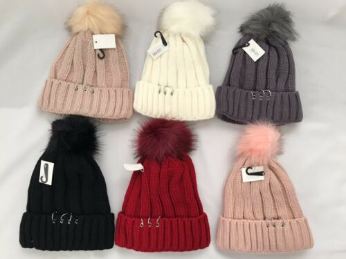 Pro.fashion Women Winter Pom Pom Ball Knit Beanie Ski Cap Bobble Hat