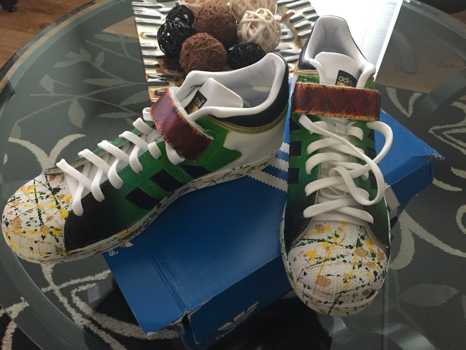 Men's Adidas Pro Sell Custom Hand Painted Size 8
