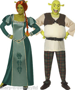 paar disney kost m herren und shrek damen fiona buch tag kost me outfits ebay. Black Bedroom Furniture Sets. Home Design Ideas