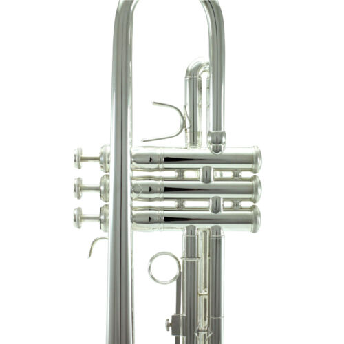 Band Approved SILVER Trumpet w Case FREE Carrying Bag