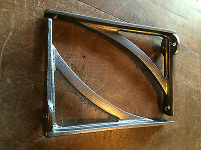 "Pair Cast Iron Shelf Brackets Industrial Vintage Iron Bridge Style Metal 7/"" x 7/"""