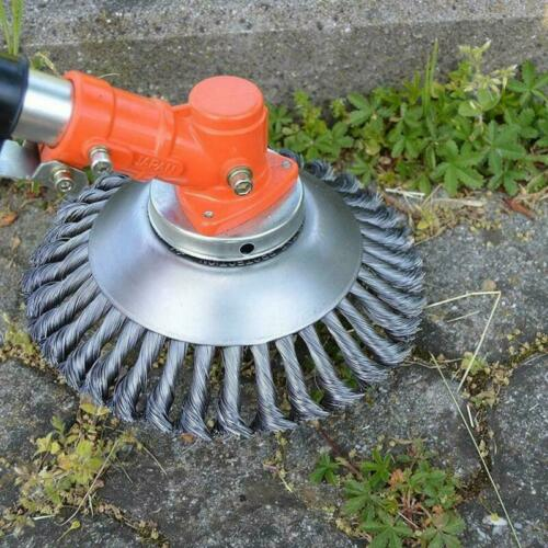 Stahldrahtrad Garten Hof Unkrautbürste Rasenmäher Kopf Outdoor Trimmer