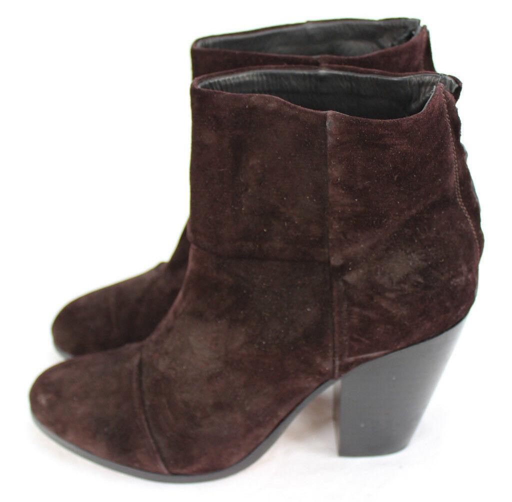 Rag & Bone New Newbury Plum Suede  Heels Leder Ankle Booties Stiefel Heels  sz 41 sz 11 81876c