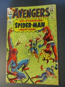 Marvel Comics Avengers # 11 /1964 Spider-man NICE Vintage Old Comic