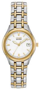 Citizen Eco Drive Women's Silhouette Two Tone Bracelet 25mm Watch EW1264-50A