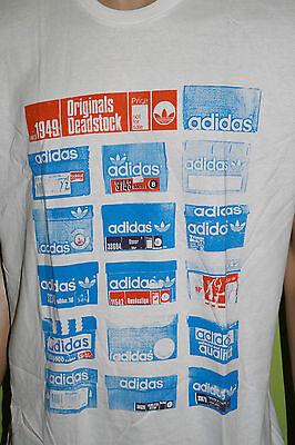 adidas T-shirt Gr.XL Schuhkartons Shoe Boxes weiss blau