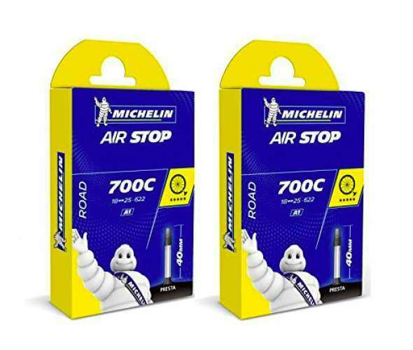 Michelin 2 Sets AIR STOP A1 700X18 25C  FV 52 Road Bike Tube New Puncture Resist  manufacturers direct supply